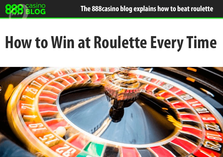 The 888casino blog explains how to beat roulette