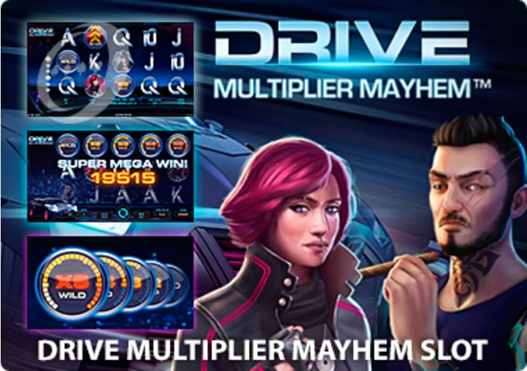Experience high speed thrills with Drive Multiplier Mayhem at Mr Green