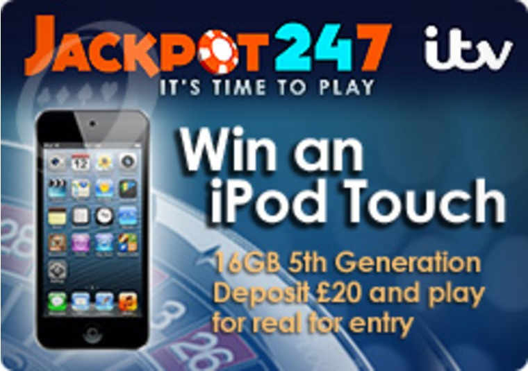 Win an IPod Touch at Jackpot247