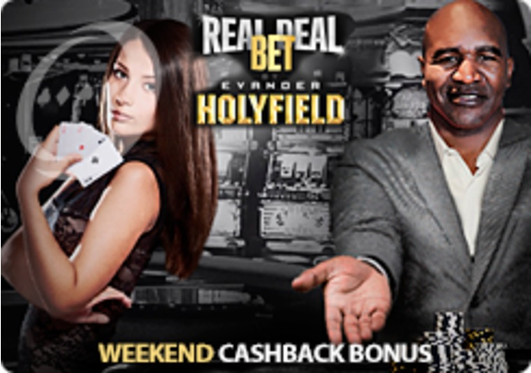 Get cash back on your losses every weekend at Real Deal Bet