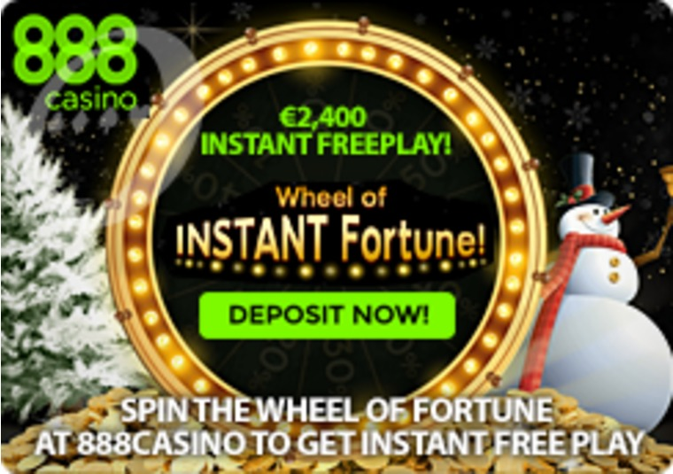 Spin the Wheel of Fortune at 888casino to get instant free play