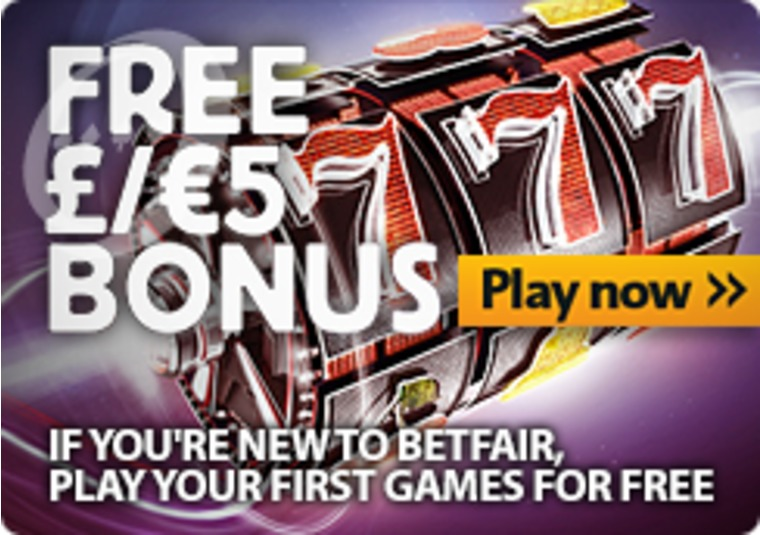 If you're new to Betfair, play your first games for free