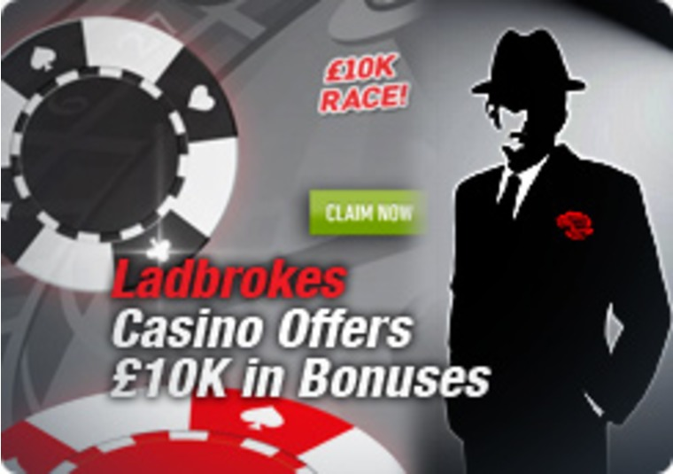 Ladbrokes Casino Offers £10K in Bonuses