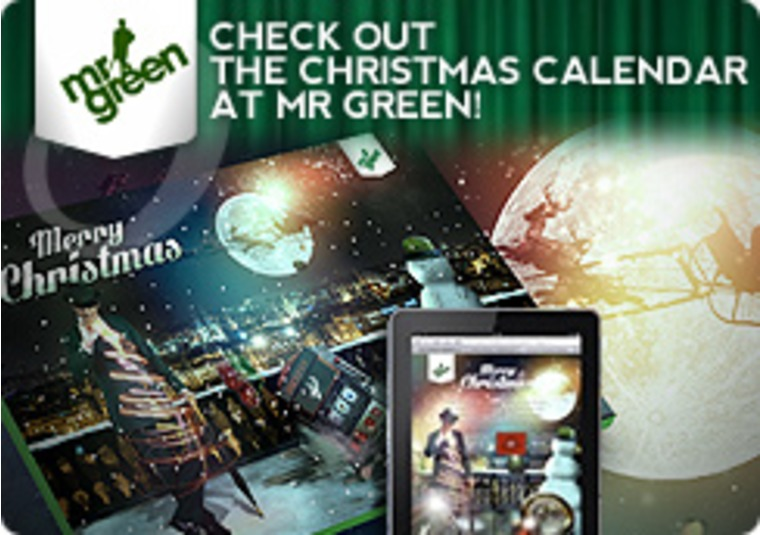 Have a Very Merry Spinning Christmas at Mr Green