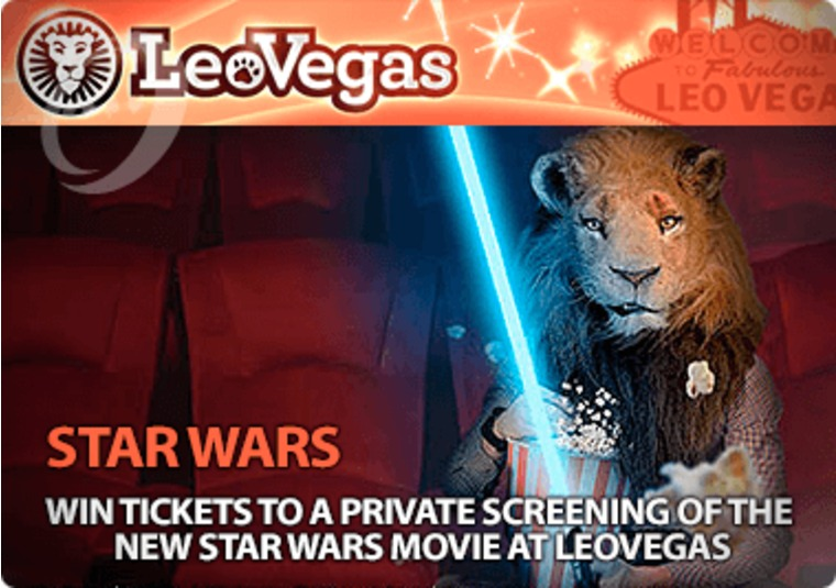 Win tickets to a private screening of the new Star Wars movie at LeoVegas