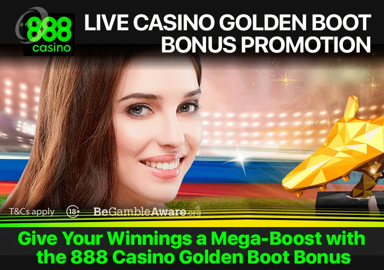 Give Your Winnings a Mega-Boost with the 888 Casino Golden Boot Bonus