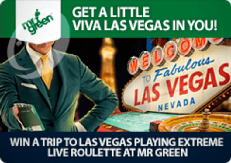 Win a trip to Las Vegas playing Extreme Live Roulette at Mr Green
