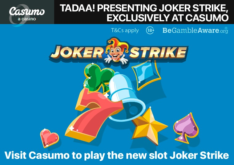 Visit Casumo to play the new slot Joker Strike