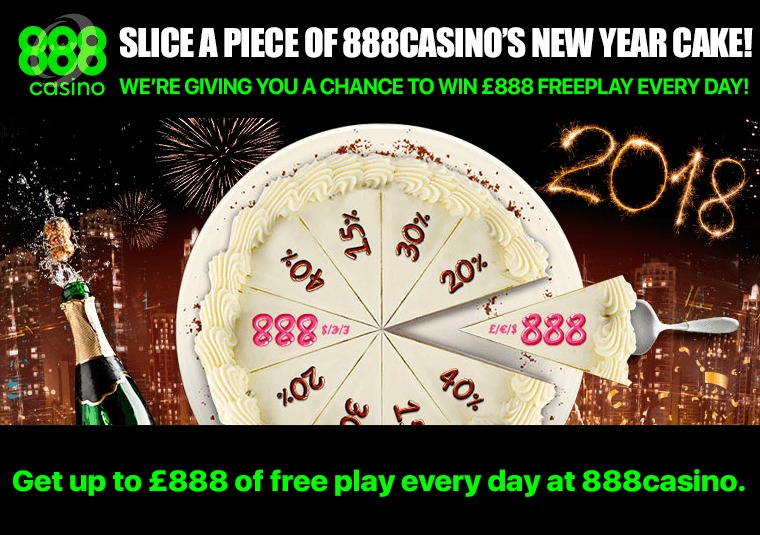 Get up to £888 of free play every day at 888casino