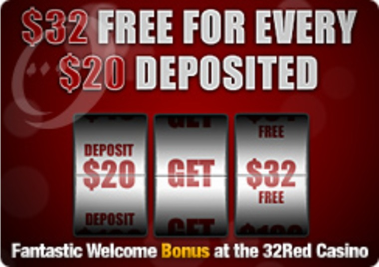 Fantastic Welcome Bonus at the 32Red Casino