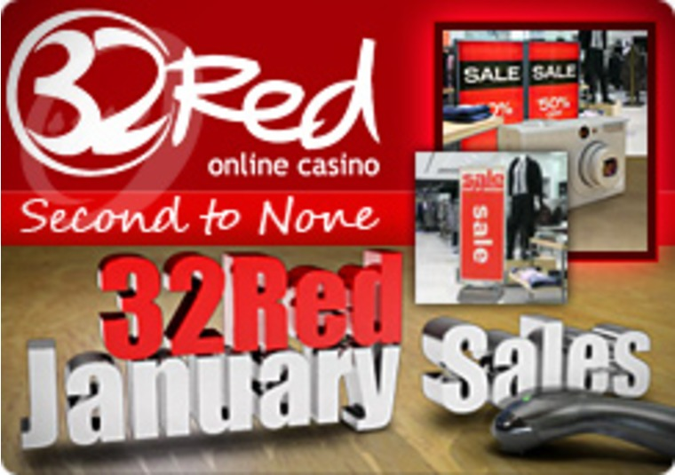January Sales at the 32Red Casino Site