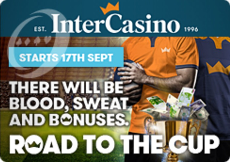 Rugby crazy InterCasino has £12k to giveaway and a £5k top prize