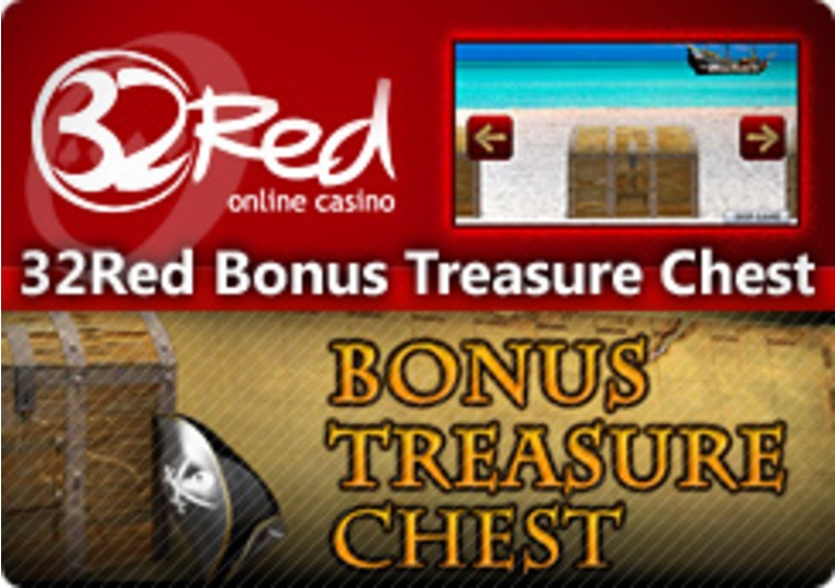 Open the Bonus Treasure Chest at the 32Red Casino