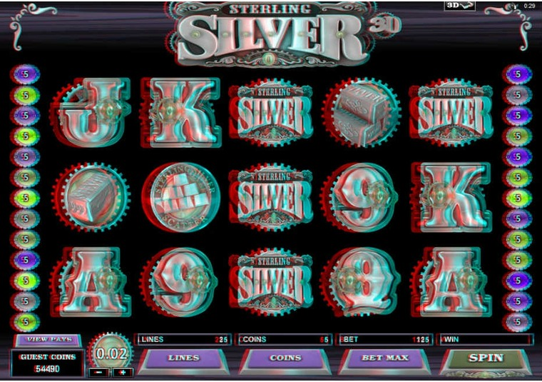 3D Sterling Silver Launched at 32Red Casino