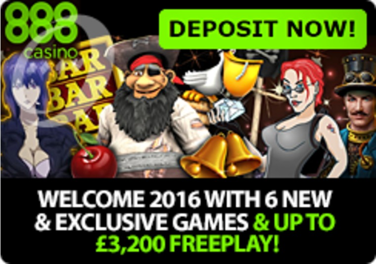 Start the New Year with new games and free play at 888casino
