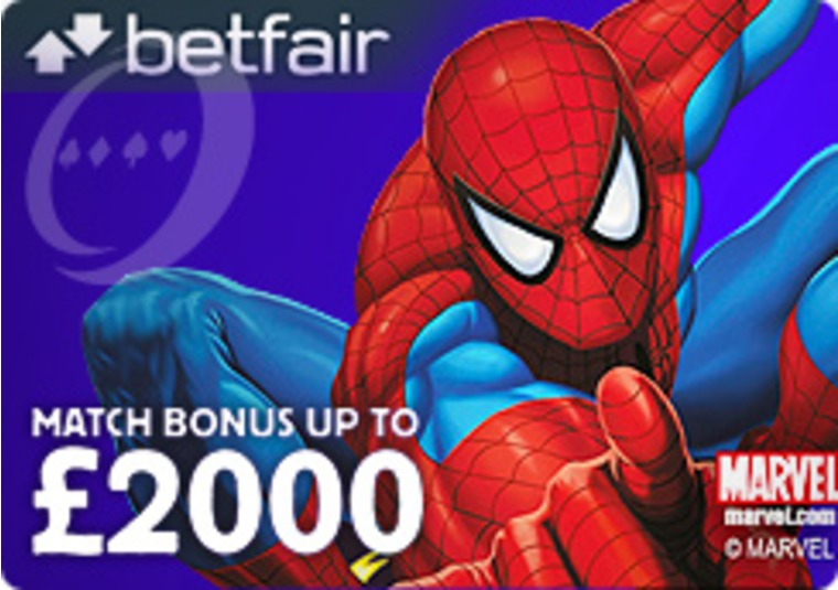 Get a Match Up Bonus Up to £2,000 at the Betfair Casino