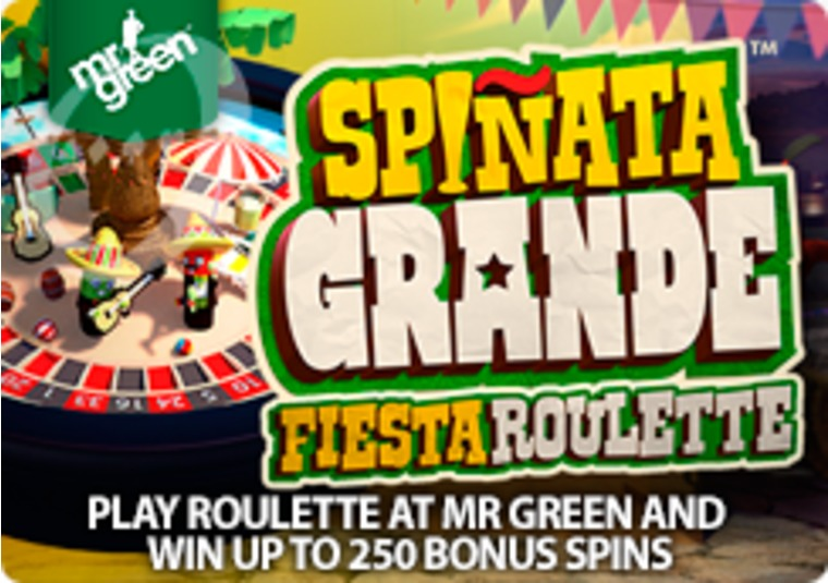Play roulette at Mr Green and win up to 250 bonus spins