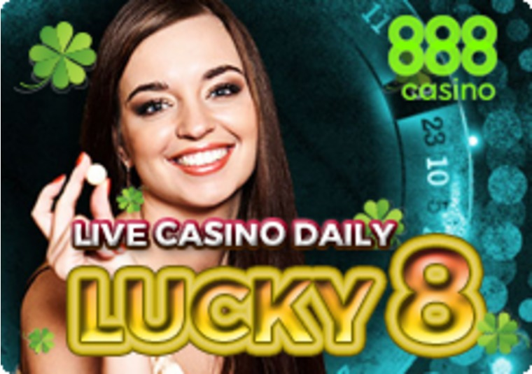 Win £8 at the 888 live casino when the winning number is 8
