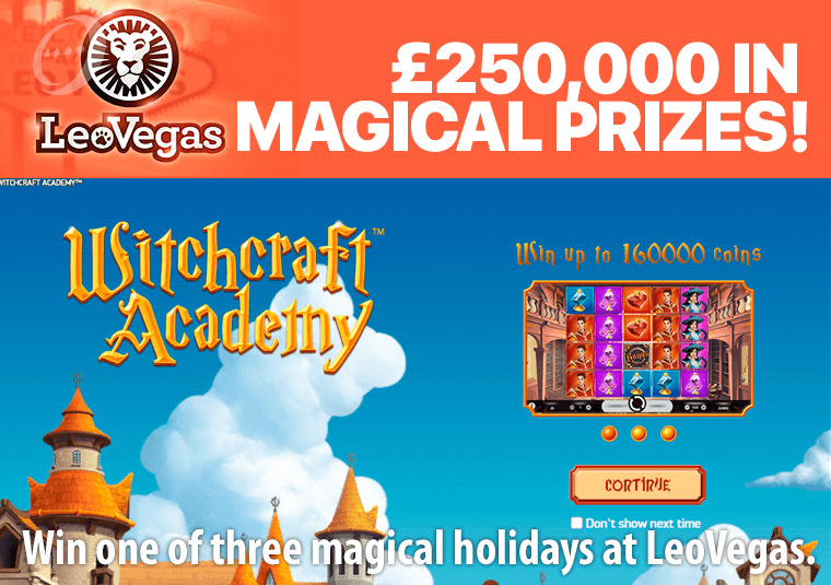 Win one of three magical holidays at LeoVegas.