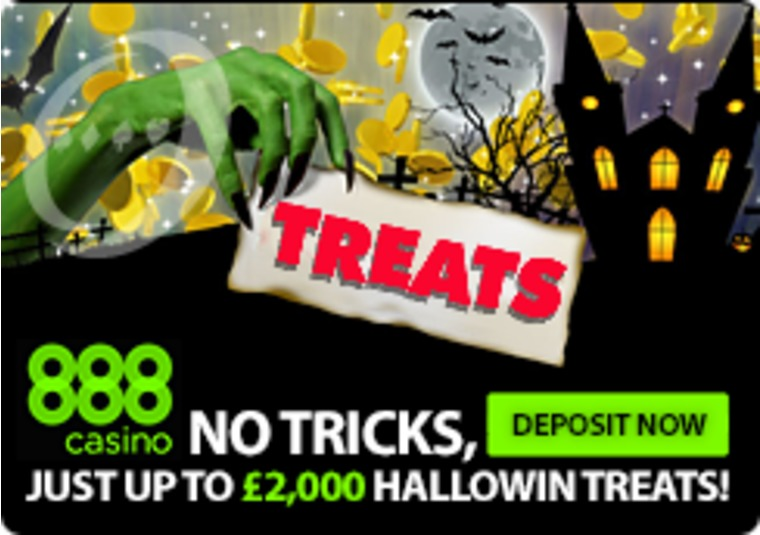 It's all treats with no tricks in this Halloween giveaway at 888casino