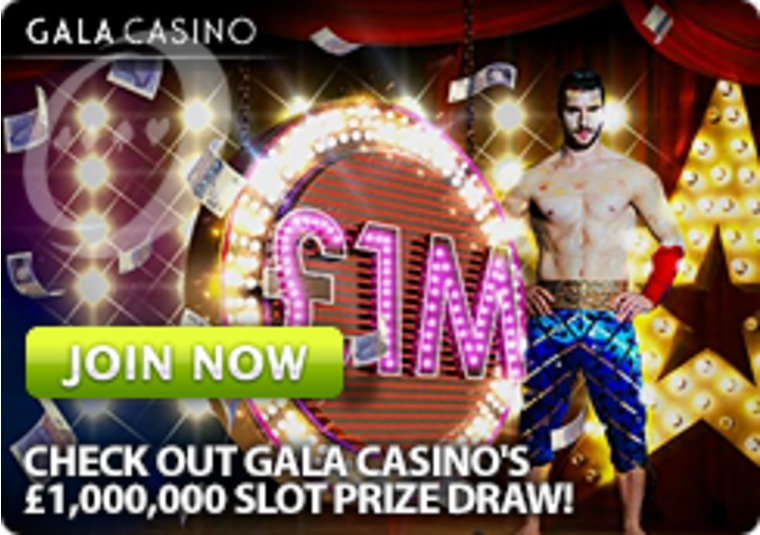 Check out Gala Casino's £1,000,000 Slot Prize Draw