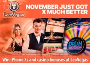 Win iPhone Xs and casino bonuses at LeoVegas