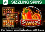 Play the new game Sizzling Spins at Mr Green