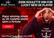 New Royal Panda player wins £89k
