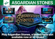 Play Asgardian Stones, a brand - new slot available now at Mr Green