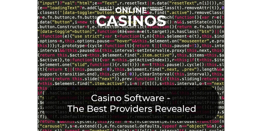 There is a huge selection of great casino software providers