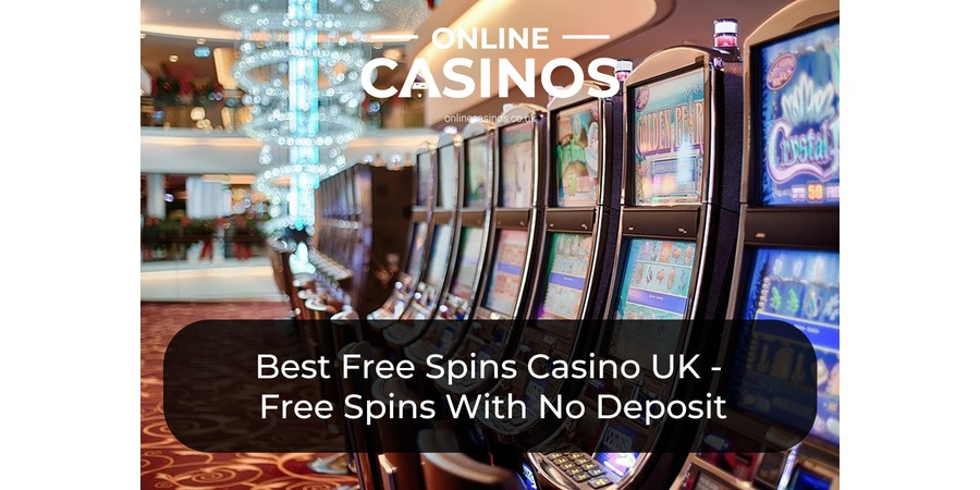 A row of casino slot machines that may have free spins offers