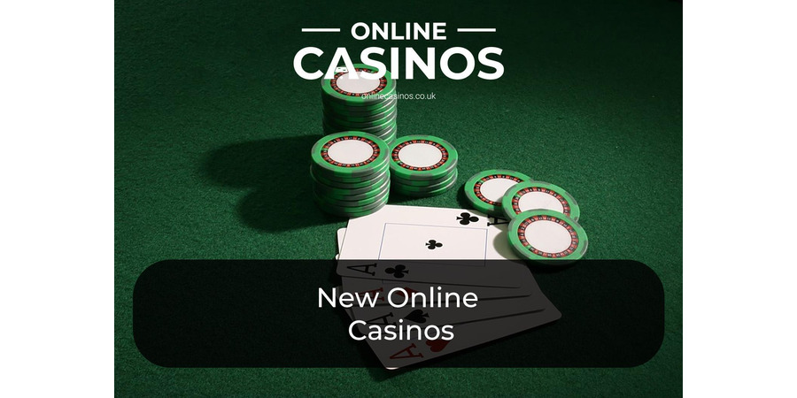 Four aces and four piles of green chips that can be be used at the top new casinos rest on a green surface
