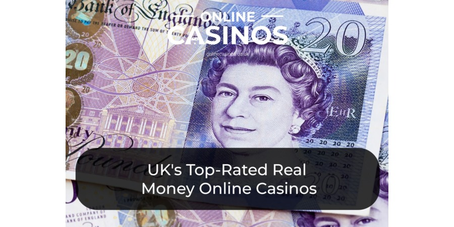Five UK £20 notes could be yours if you win at an online casino with real money games.