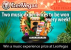 Win a music experience prize at LeoVegas